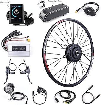 XJYA Kit Bicicleta eléctrica para Bicicleta Kit de conversión de 48V 500W del Cubo Trasero Motor eléctrico con 20 26 27,5 de la Rueda 700c con la exhibición: Amazon.es: Deportes y aire libre