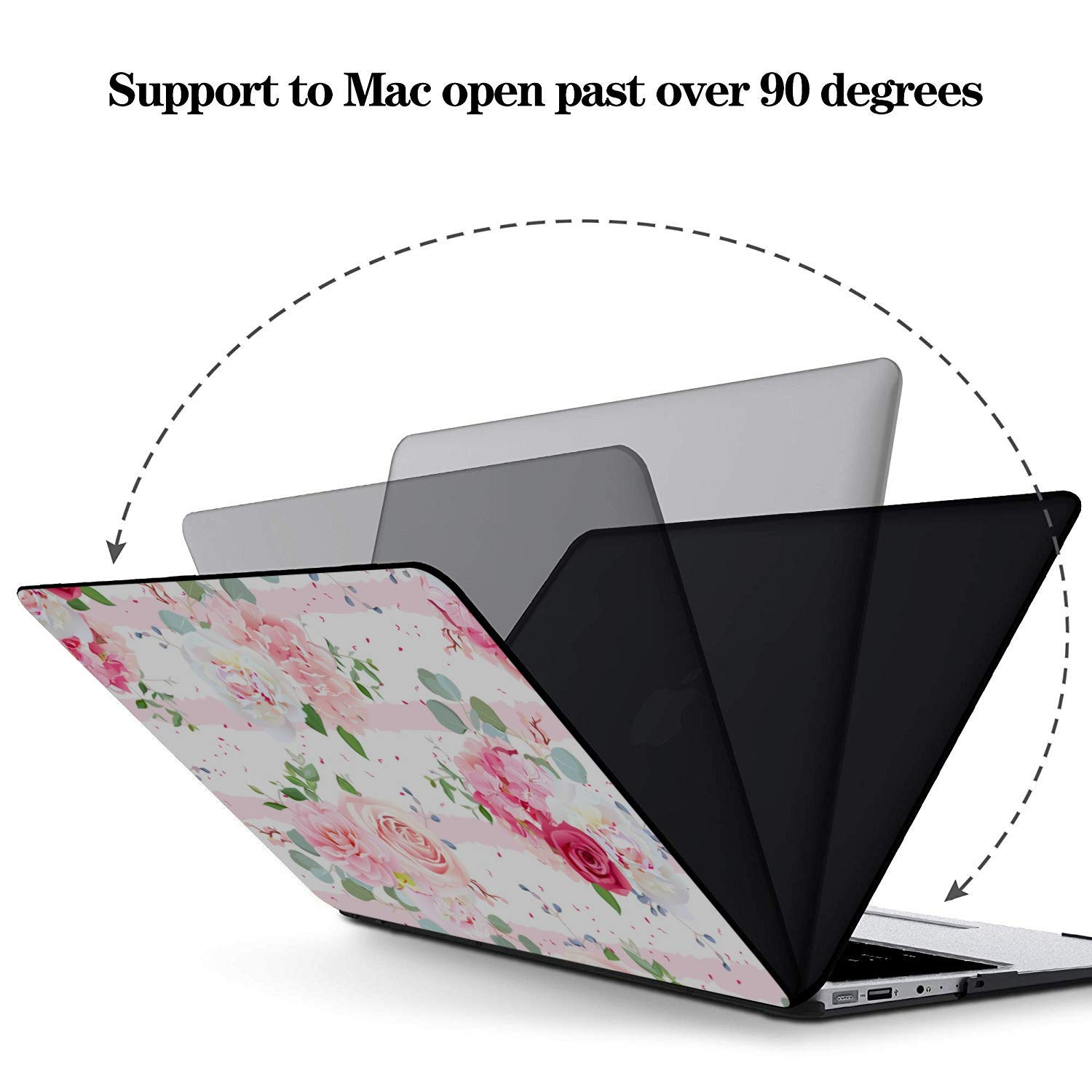 Laptop Case Mac Spring Beautiful Pink Flower Fragrant Plastic Hard Shell Compatible Mac Air 11 Pro 13 15 Case MacBook Pro 13 Protection for MacBook 2016-2019 Version