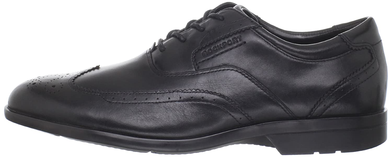 Amazon.com | Rockport Men's Business Lite Wing Tip Lace-Up-Black-10 M |  Oxfords