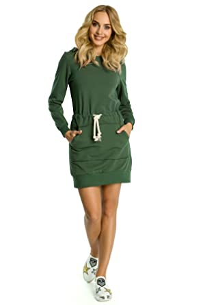 Kleid mit taschen und kapuze