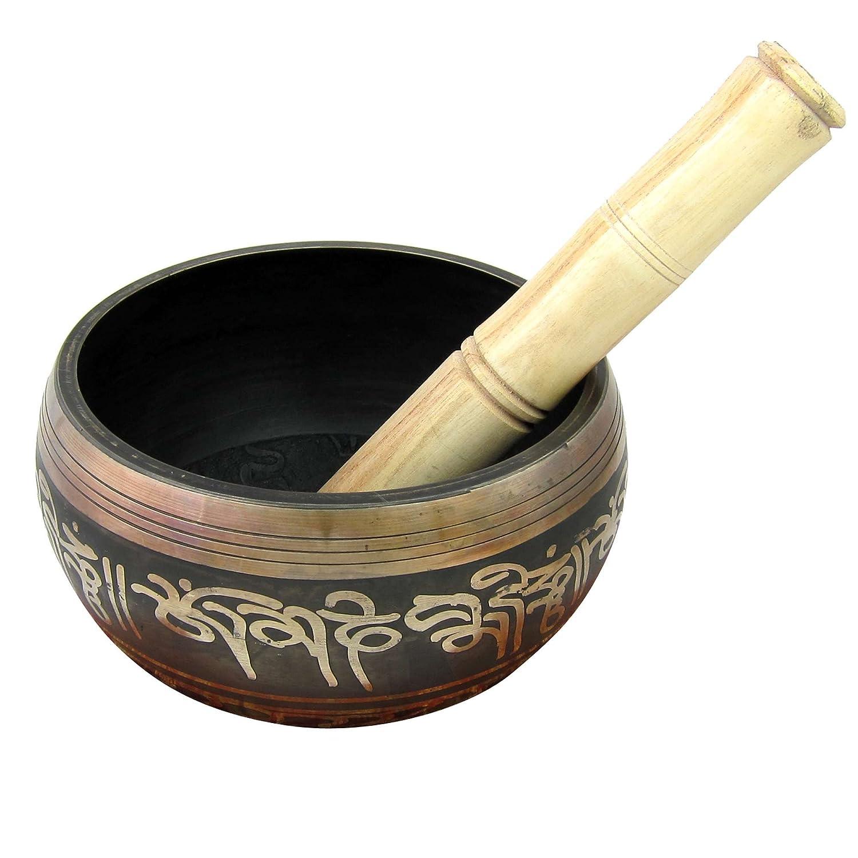 瞑想6インチ975グラムのためのチベットのシンギングボウル   B007CX4VEY