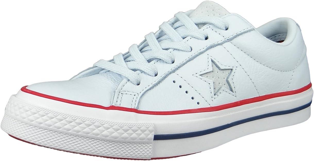 Converse Chucks 160626c Bleu Une Étoile Ox Gym Rouge Teinte