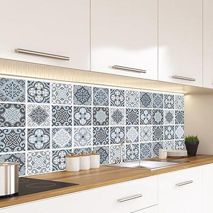 Alwayspon Vinyl Floor Wall Tiles Sticker Waterproof Non Slip Splashback Tiles Decal For Kitchen Bathroom Self Adhesive Peel And Stick Pvc Diy Home