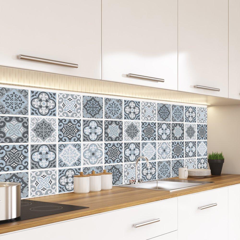 Alwayspon Vinyl Floor Wall Tiles Sticker Waterproof Non Slip Splashback Tiles Decal For Kitchen Bathroom Self Adhesive Buy Online In Malta At Desertcart Productid 94540397