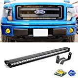 """iJDMTOY Complete Center Grill Hidden Mount 30"""" 150W High Power LED Light Bar System w/ Wiring Kit For 2009-2014 Ford F-150 (Excluding Ford Raptor)"""