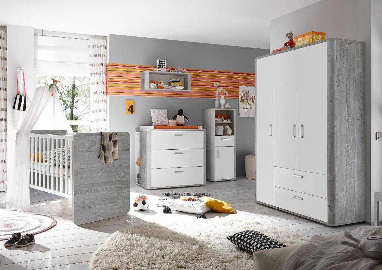 storado.de Babyzimmer Frieda Set 4 Vintage Wood Grey//wei/ß matt Lack 6 TLG Komplettset
