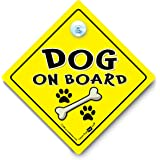 Dog on Board Car Sign, Dog On Board, Dog Car Sign, Novelty Car Sign, Baby on Board Sign Style, Bumper Sticker Style, Dog In Car, Dog in Vehicle, Canine Car Sign, Baby on board, decal