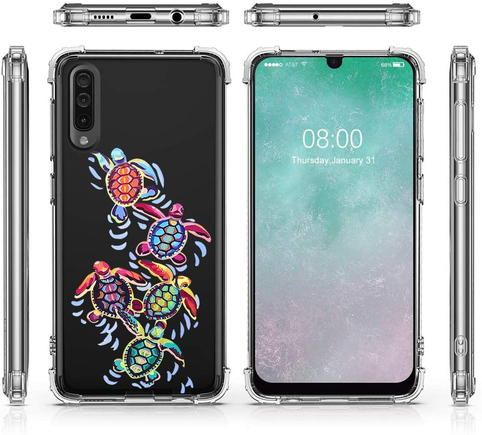 Oihxse Compatible with OnePlus 5T Case Cute Pattern Clear Design Soft /& Flexible TPU Silicone Ultra-Thin Transparent Shockproof Bumper with Air Cushion Protective Cover-Sea Turtle 3