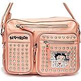 Betty Boop bling POCKETS pink cross-body messenger bag Rhinestone signature B16V