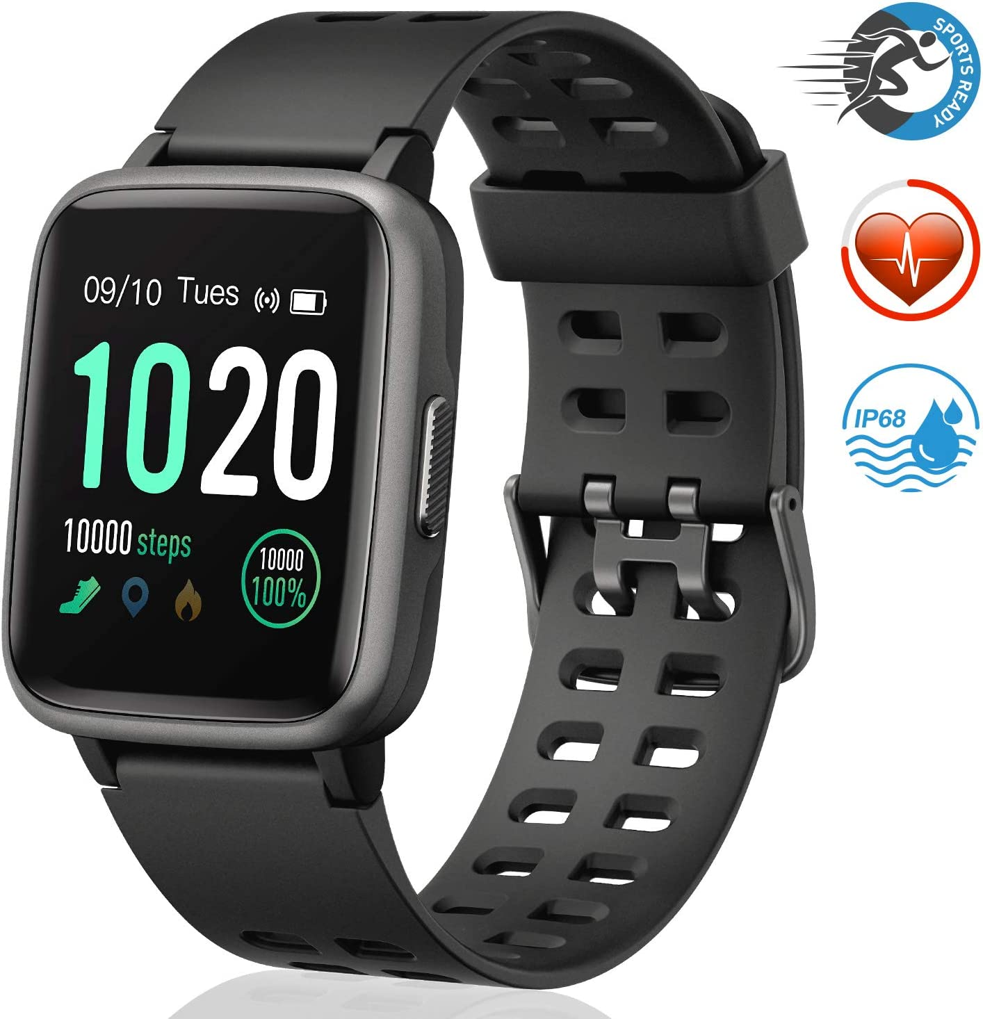 FitFort Smart Watch for Android and iOS Phone 2019 Version IP68 Waterproof,...