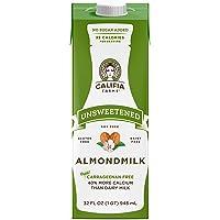 Califia Farms - Shelf Stable Almond Milk, Unsweetened, 32 Oz (Pack of 6)   Non Dairy   Nut Milk   Vegan   Plant Based   Sugar Free   Keto Friendly   Whole30   Non-GMO