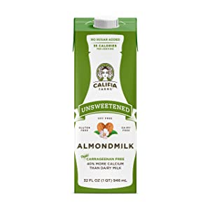 Califia Farms - Shelf Stable Almond Milk, Unsweetened, 32 Oz (Pack of 6) | Non Dairy | Nut Milk | Vegan | Plant Based | Sugar Free | Keto Friendly | Whole30 | Non-GMO
