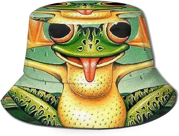 Foldable Fishermen Hat Sun Protection Beach Caps LDGG Cute Frog Bucket Hat Parent-Child Hat Cotton Bucket Hat for Kids Adults