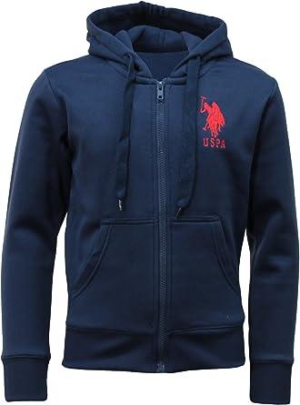 US Polo Assn Zip Hoodie - Sudadera con capucha - para niño azul ...