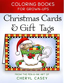 christmas cards gift tags coloring books for grownups adults wingfeather coloring books