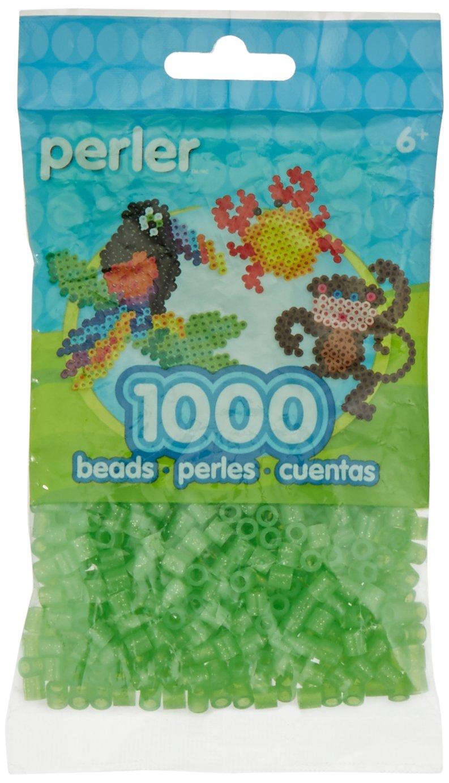 Canutillos Hama Beads 1000 Unidades Verdes Con Glitter