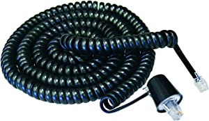 Softalk 03201 Phone Coil Cord with Twisstop 25-Feet Black Landline Telephone Accessory