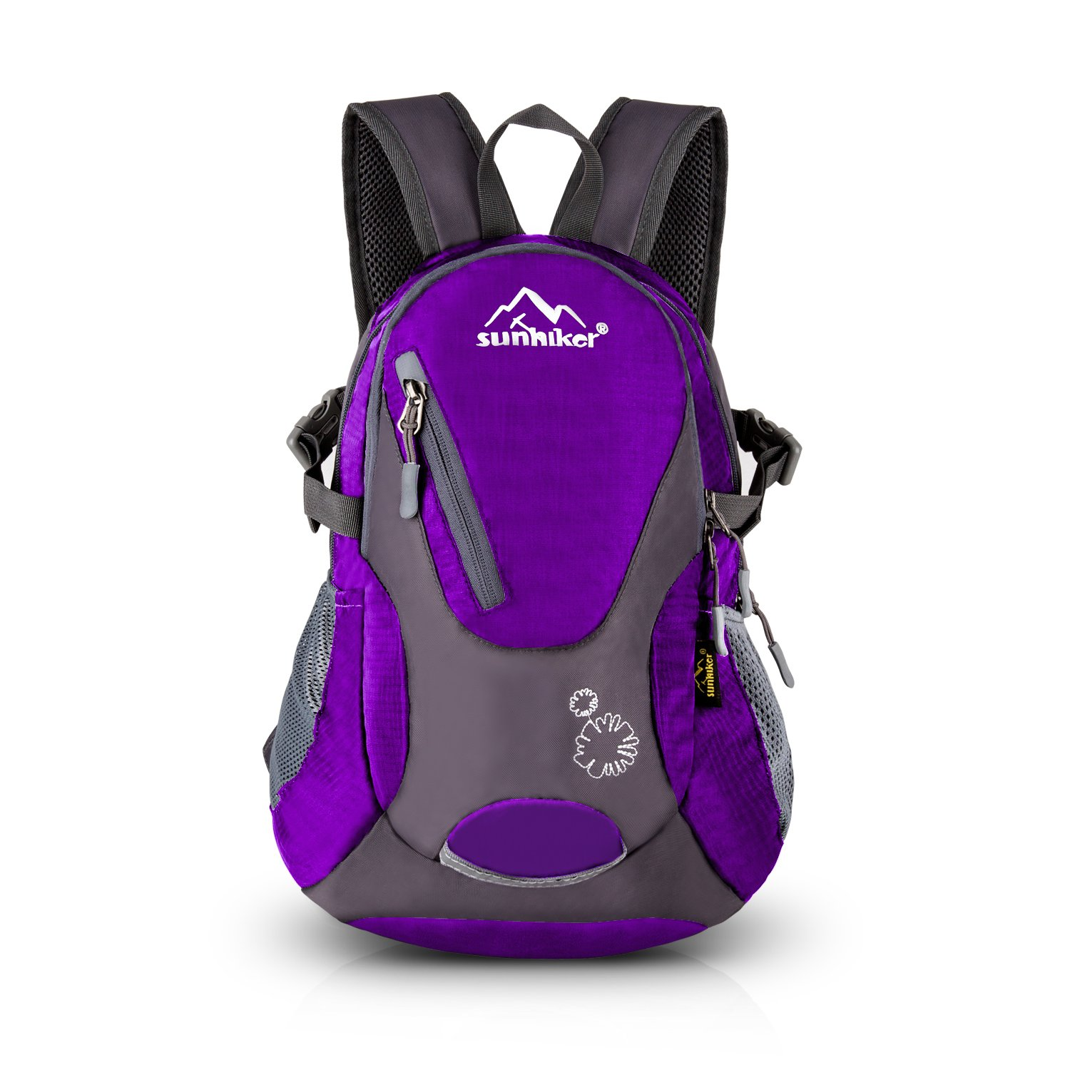 Sunhiker Cycling Hiking Backpack Water Resistant Travel Backpack Lightweight Small Daypack M0714 (Purple) by Sunhiker