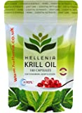 Hellenia K.Real® 100% Antarctic Krill Oil - 180 Capsules - Pure High Quality Product 500mg - Highest Purity - Lowest Sodium - 3 Month Supply
