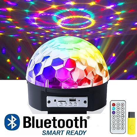 Amazon ihoven disco ball party lights 9 colors rotating led ihoven disco ball party lights 9 colors rotating led disco stage dj lights crystal magic aloadofball Images