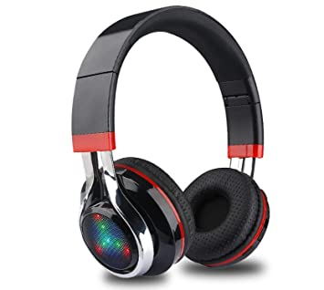 Glowing Stereo Casque Audio Bluetooth Headphone Wireless Big Headset Sport Earphone Mic LED Light TF FM