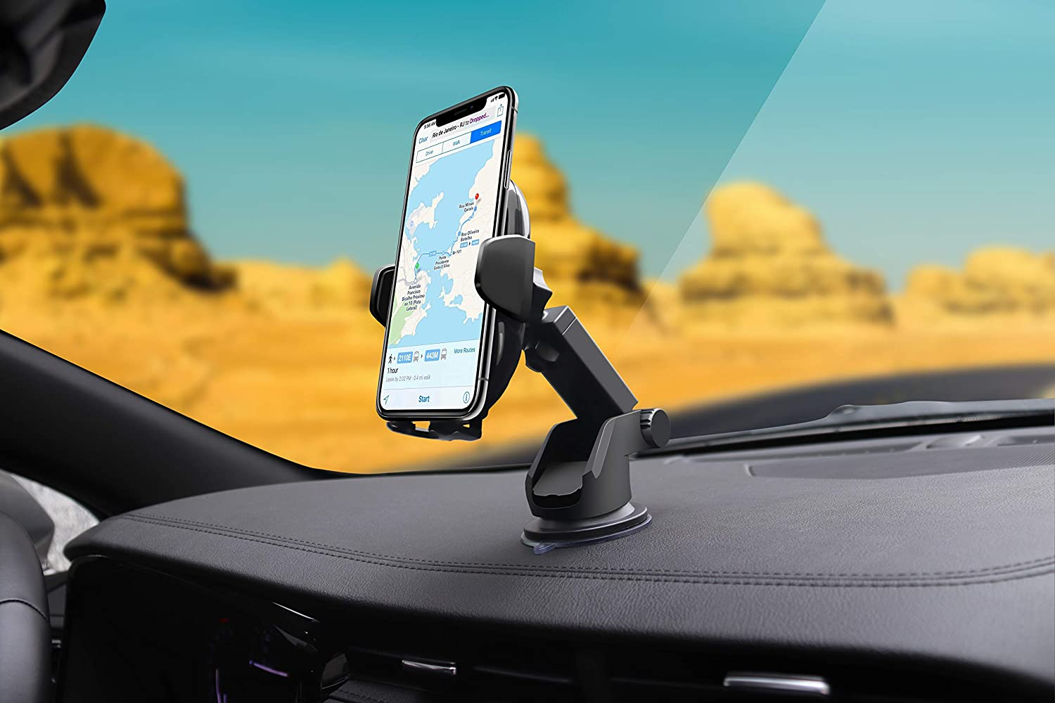 10W Fast Charging Qi-Certified Compatible with iPhone X//8//8 Plus Ionic Wireless Cell Phone Car Charger Holder//Windshield//Dashboard//Air Vent Mount Samsung Galaxy Note 8//9//S8//S8 plus//S9//S10//S10 Plus
