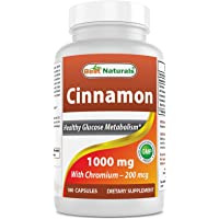 Best Naturals Cinnamon 1000 mg with Chromium 200 mcg 180 Capsules