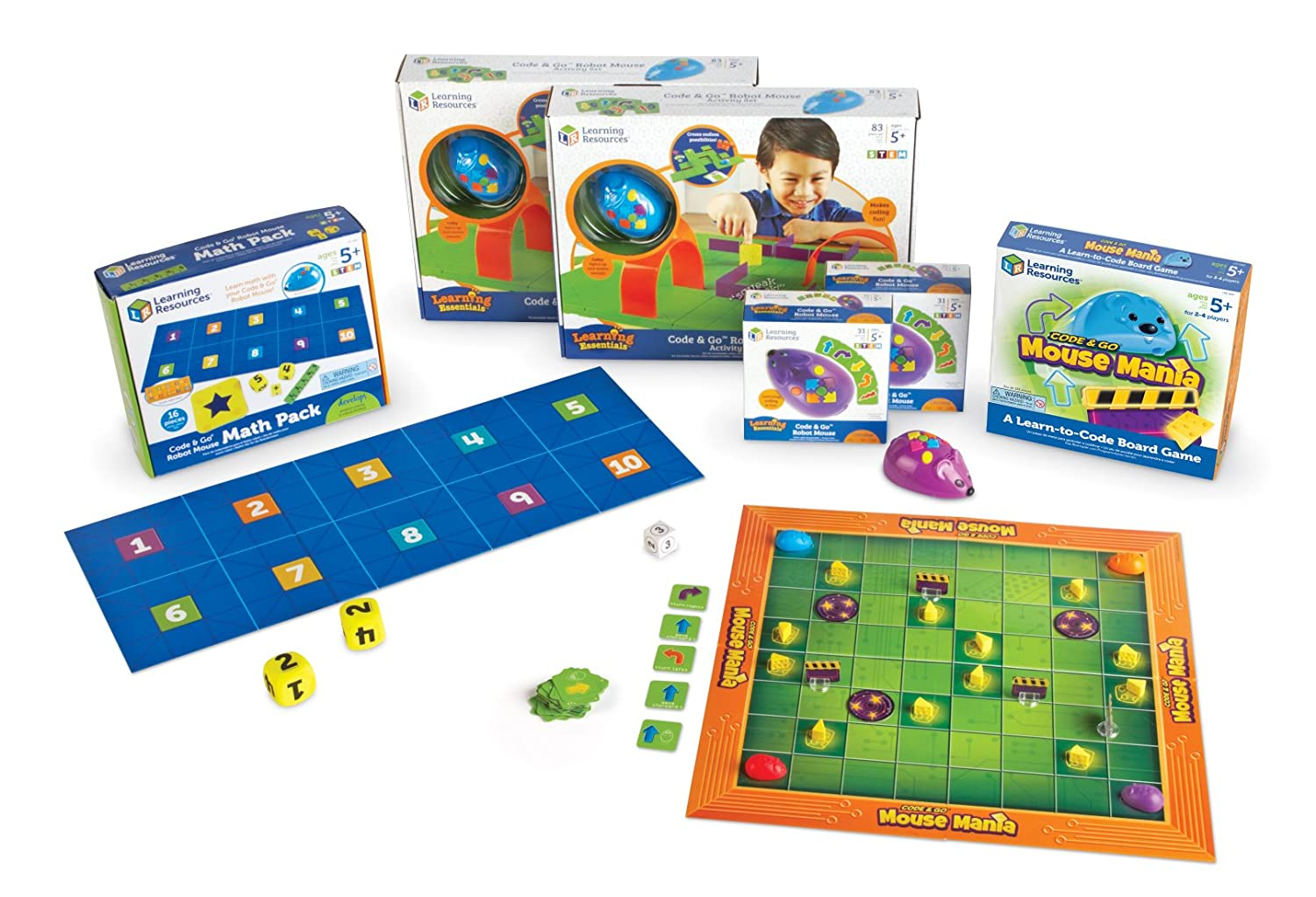 Learning Resources Code & Go Robot Mouse Classroom Set (LER2862)