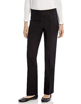 797e1204e3 Leveret Womens Pants Stretchable Boot Cut Comfort Office Pants Pull On (4,  Black)