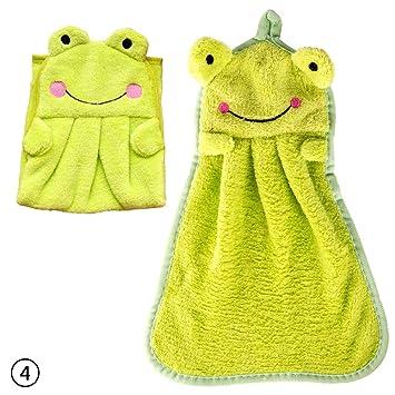 zhuotop Cartoon Animal toalla de cocina toalla de mano de baño para colgar limpiador suave: Amazon.es: Hogar