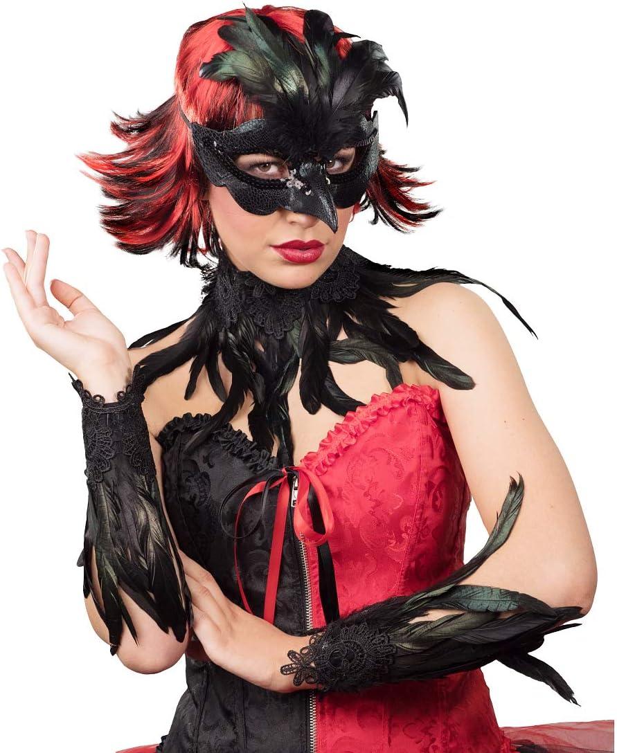 NET TOYS Set de Disfraz de Cuervo Plumas Reales - Negro ...