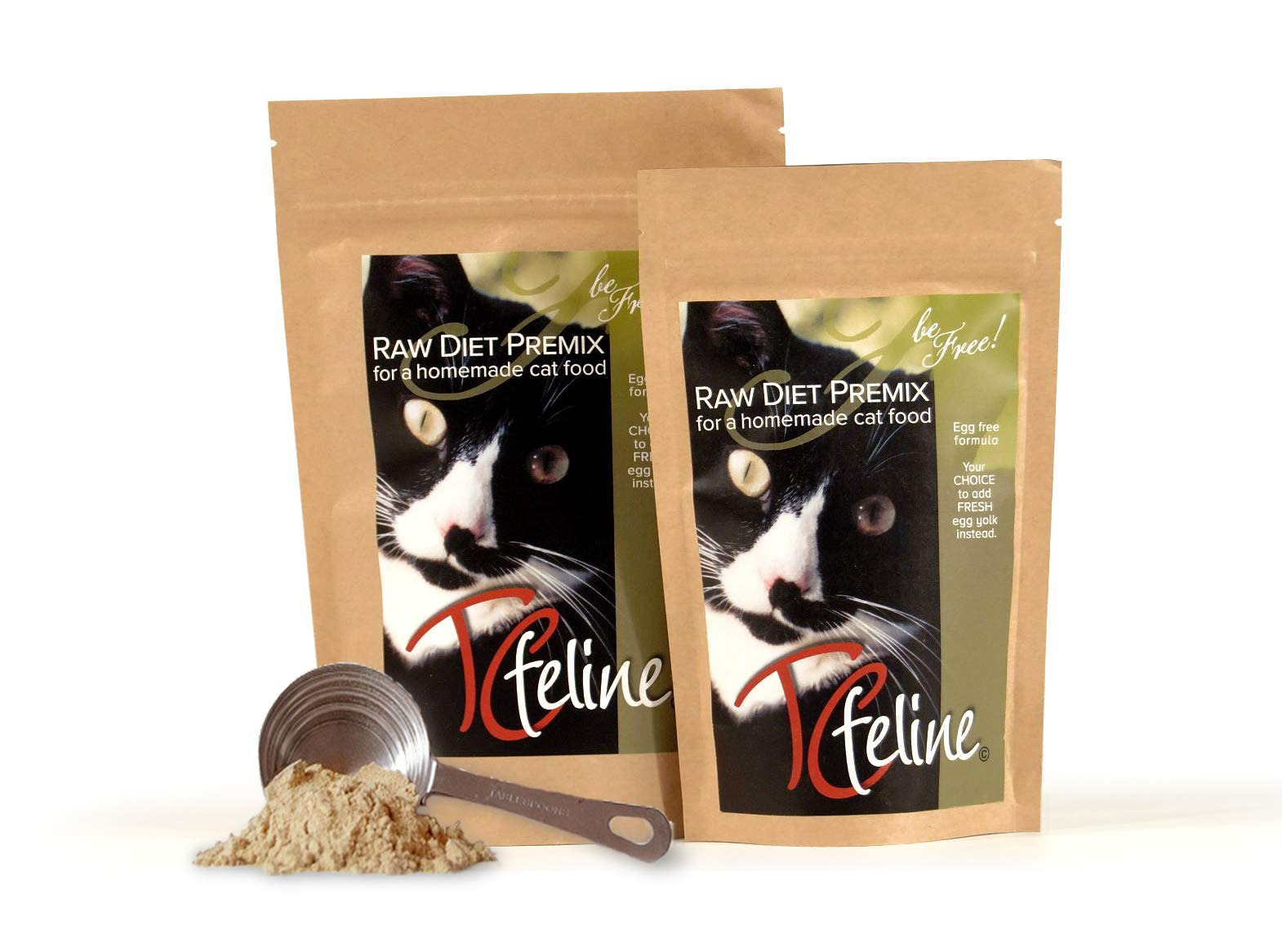 TCfeline RAW Cat Food Premix/Supplement to Make a Homemade, All Natural, Grain Free, Holistic Diet - Original Version with No Liver (Regular 17 oz) Egg Free Formula by The Total Cat Store