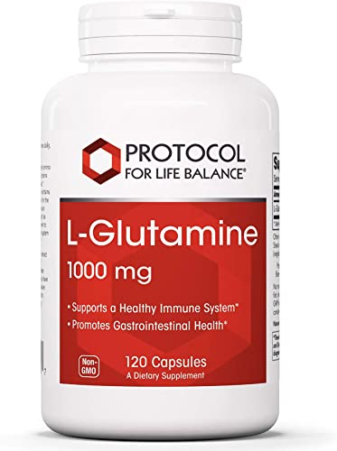 Protocol For Life Balance – L Glutamine 1000mg – Supports a Healthy Immune System and Gastro-Intestinal Healthy While Aiding Exercise Recovery – 120 Capsules