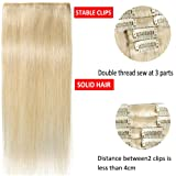 Remy Clip in Hair Extensions 100% Human Hair 20