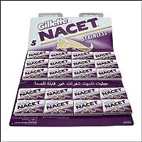100 NACET STAINLESS Double Edge Razor Blades