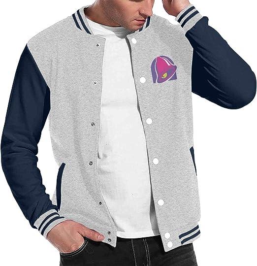 Taco Bell Mens Fashion Baseball Uniform Jacket Sport Coat