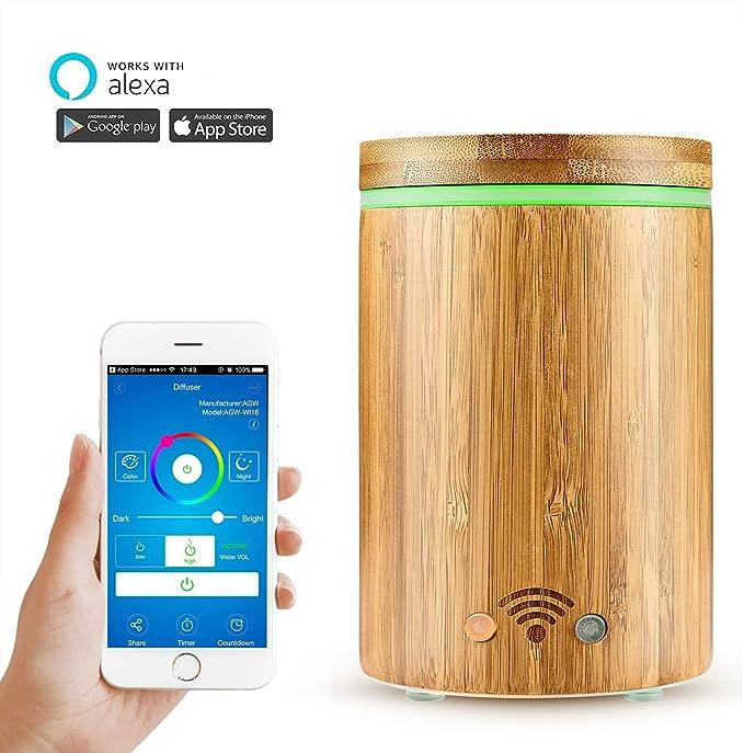 WiFi Smart Difusor de Aceites Esenciales Google Home e APP ...