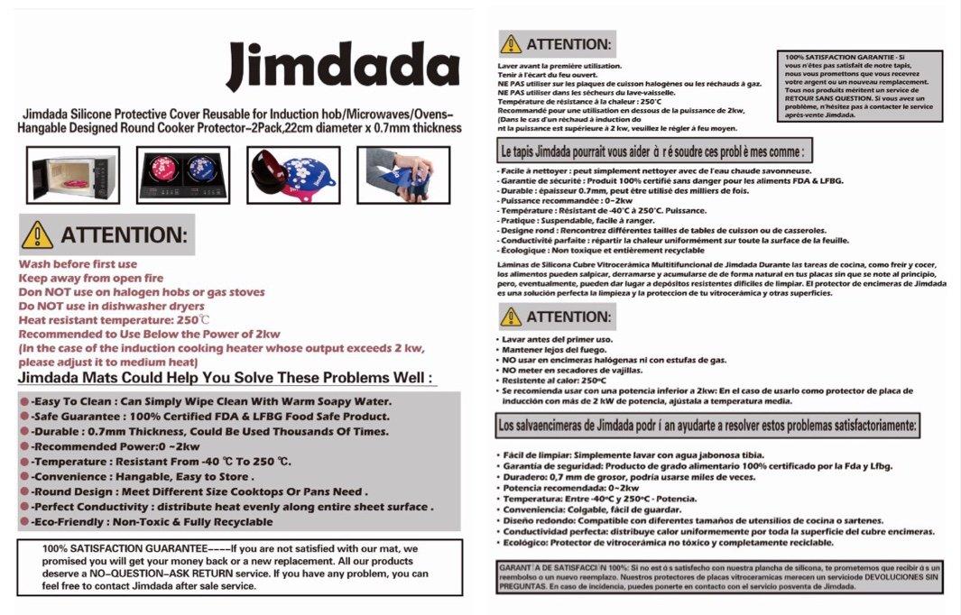 Jimda - Funda Protectora de Silicona Reutilizable para ...