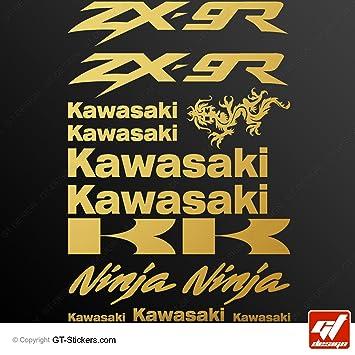 Aufkleber Kawasaki Zx 9r Gold Brett Von 14 Sticker