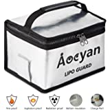 Aocyan Lipo Safe Battery Bag Lipo Guard Fireproof Bag with a Charge Port for Lipo Battery Charging Safely Explosionproof Large Storage Bag