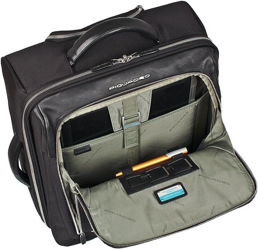35 L Piquadro Laptop Rollkoffer 46 cm Braun