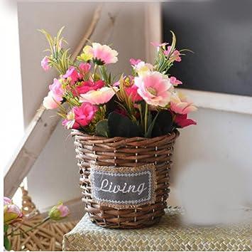 JRFBA Kleine Bonsai Blumen Pflanzen Eingetopft Blumen Simulation ...