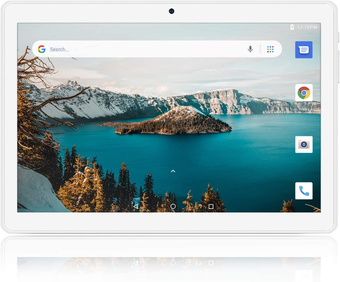 Tablet 10 inch, 5G WiFi Tablet, Android 8.1 Go, 16GB, Dual Camera, 1280x800 IPS Display, GPS, Bluetooth, Google Certified PC - Silver