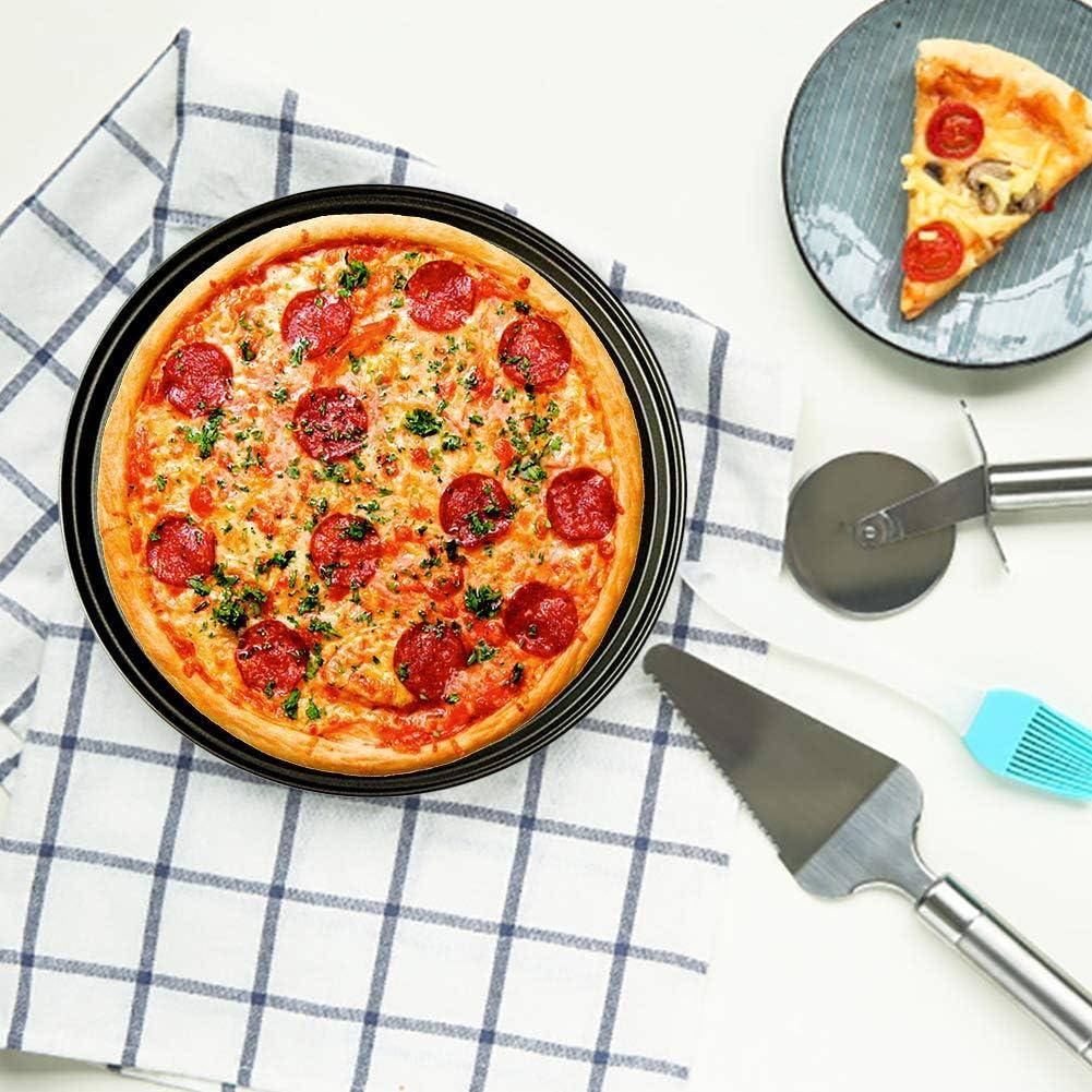 Maxtapos Pizza Backblech aus Karbonstahl antihaftbeschichtet Backform Backwerkzeug K/üche Kochen Zubeh/ör 26 cm