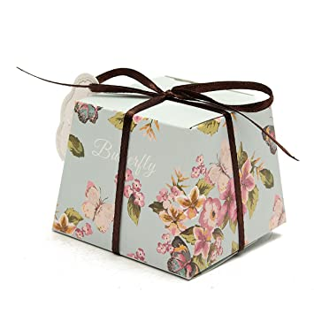 Floratek - Juego de 50 cajas de dulces para boda, fiesta, regalos de boda