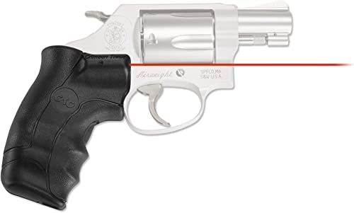 Crimson Trace LG-350 Lasergrips with Red Laser, Heavy Duty Construction and Instinctive Activation for Smith Wesson, J-Frame Round Butt, Defensive Shooting and Competition