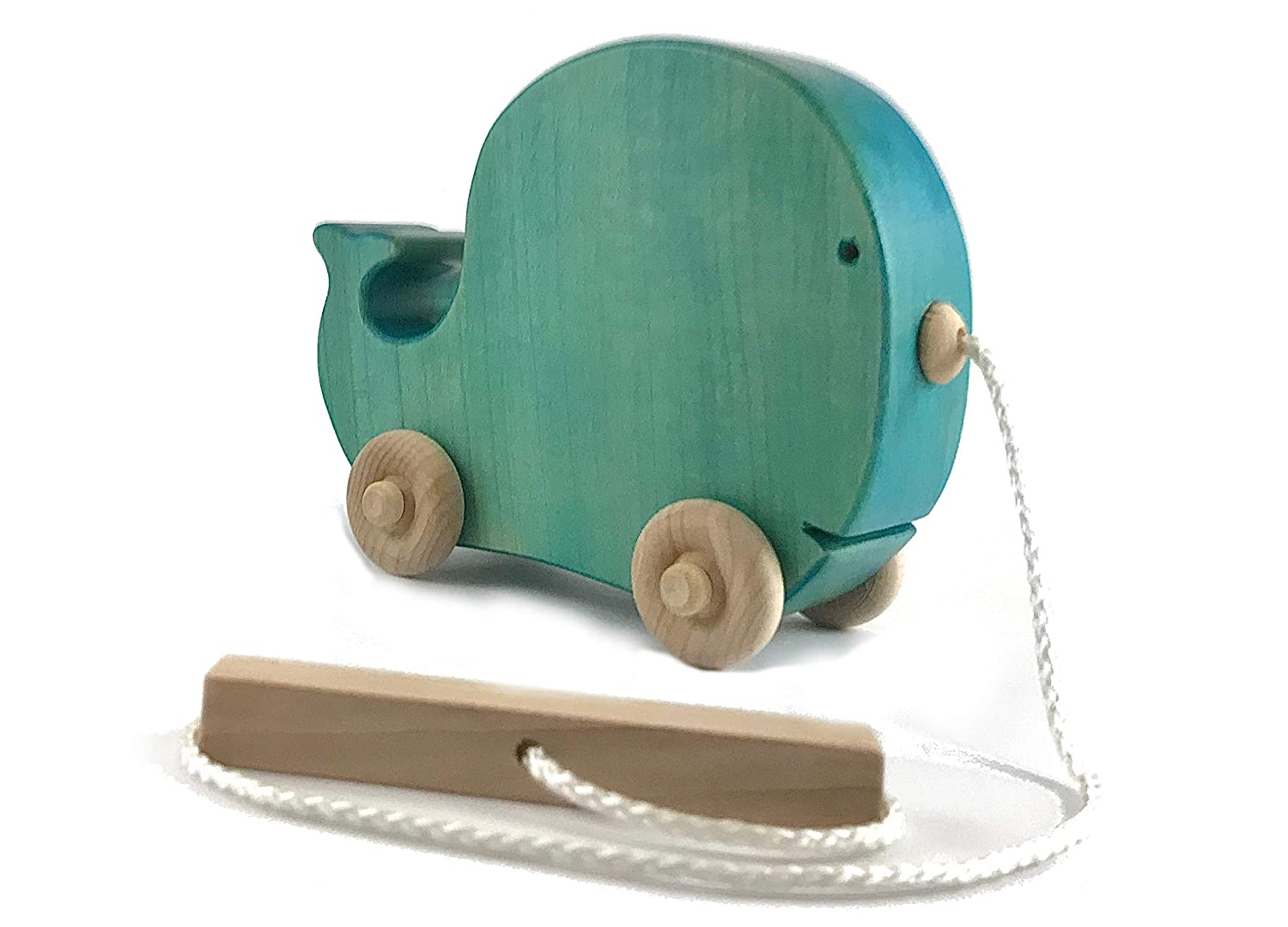Handmade Wooden Whale Pull Toy