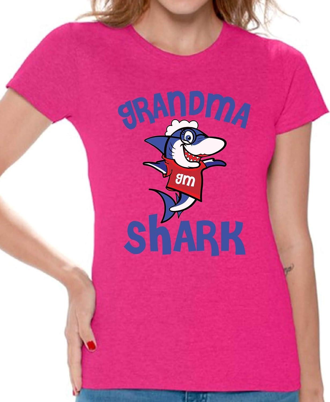 Awkward Styles Grandma Shark Tshirt Shark Family Shirt for Women Shark Gifts for Her