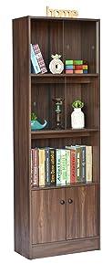 DeckUp Cove Book Shelf and Display Unit (Walnut, Matte Finish)