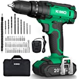 Cordless Drill Driver Kit - 20V Impact Drill Set w/ 2.0Ah Li-Ion Battery & Charger, 350 In-lb Torque, 0-1350RMP Variable…